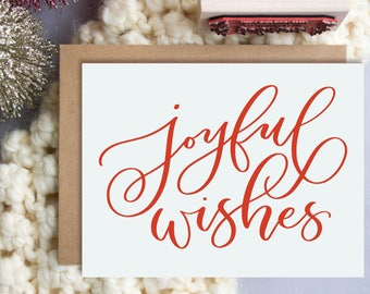 Joyful wishes A2 Greeting Card, Christmas Note Card, Joyful Wishes Note Card