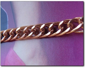 Solid Copper Anklet CA699G - 1/4 of an inch wide - USA made.