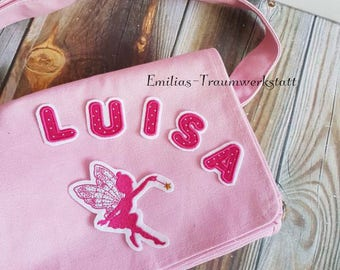 Kindergarten bag fee Summer Special 2017, fairy bag, fairy bag, wish name, discount, cheap, kids bag, pink, fairy