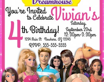 Barbie Birthday Invitation- Printable