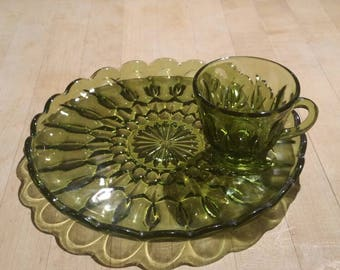 Green Plate and cup set