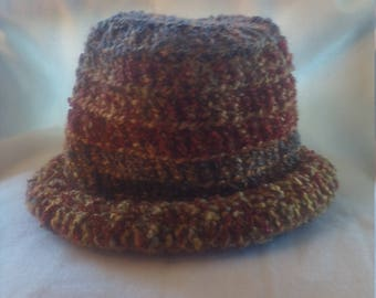 half price rolled brim hat in earth tones