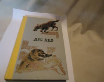 Vintage 1966 Big Red by Jim KjelGaard Junior Deluxe Edition Children's Book by Nelson Doubleday, hardback, collectable