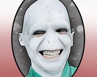 Harry Potter - Voldemort Style Geeky Birthday Card