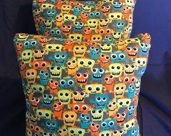 Monster throw pillows!