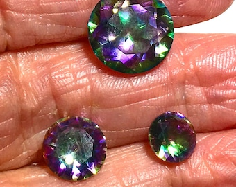 Mystic Topaz  faceted 9mm round