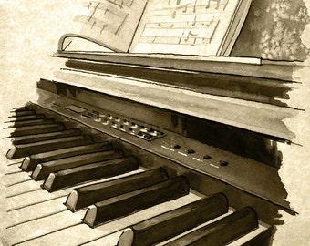 Keyboard - weathered print