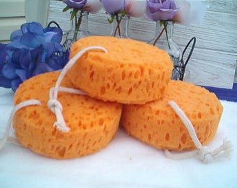Sea Foam Sponge, Bath and Shower Sponge, Hanging Sponge, Bath & Shower Accessory, Sponge Scubby