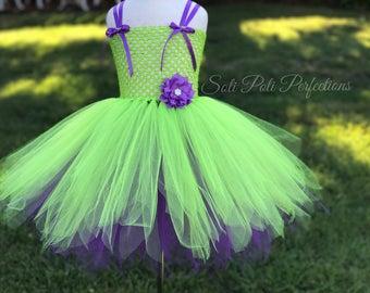 Tinkerbell Inspired Tutu Dress, Green Tutu, Green Tutu Dress, Tutu, Fairy Tutu, Fairy Tutu Dress, Fairy Costume, Tinkerbell Costume,