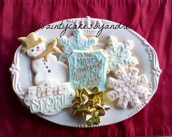 1 dozen most wonderful time of the year christmas cookies