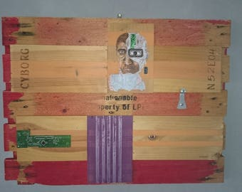 Ghost, painting, wood pallet