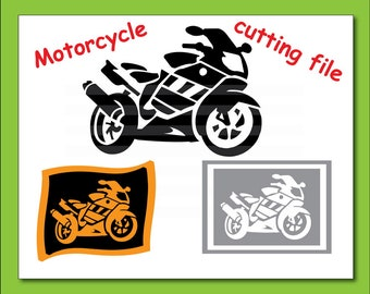 Motorcycle Svg Eps Png Dxf files For Silhouette Studio,Cricut Design Space for Commercial & Personal Use- Instant Download