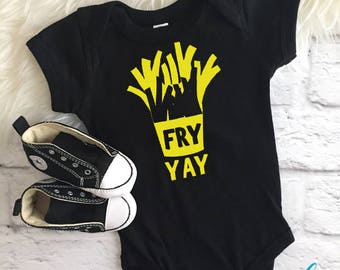Fry yay shirt | Friday shirt | Fries shirt | Fry day shirt | Fun Friday shirt | Toddler Fry yay shirt | Snacking shirt | Food shirt