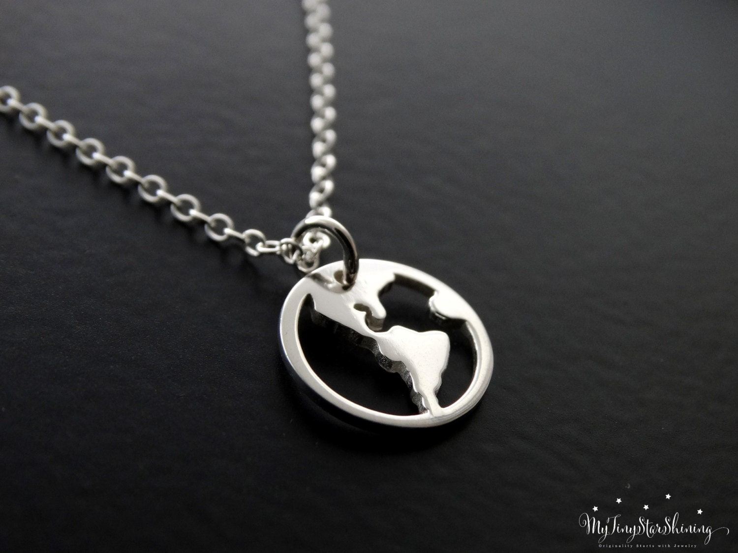 Sterling silver world map necklace travel necklace gold globe sterling silver world map necklace travel necklace gold globe pendant traveler jewelry world charm sterling silver necklace gumiabroncs Gallery
