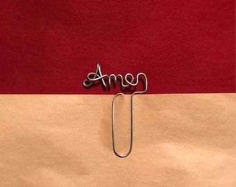Amen Wire Bookmark Paperclip
