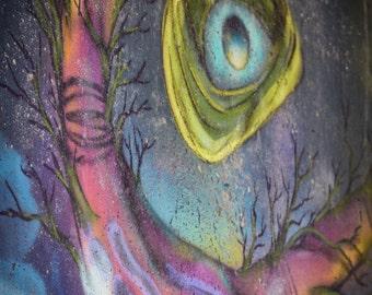 Night Eyeball Graffiti Image