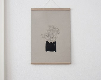 Set / Monsieur visionary + poster Strip oak A2