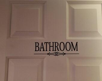 Free Shipping Bathroom Decal Sticker Decor