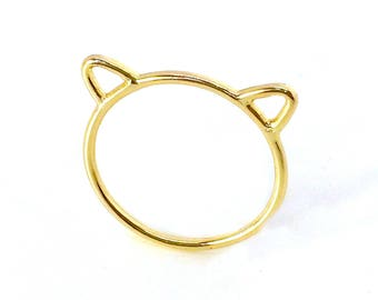Kitty cat ears ring