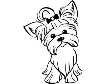 Yorkshire Terrier #3 Yorkie Dog Breed K-9 Pedigree Purebred Animal Pet Hound Lap Teacup Puppy Logo .SVG .EPS .PNG Vector Cricut Cut Cutting