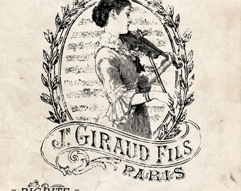 Water Decal Print Transfer To Furniture Wood Or Paper Vintage French