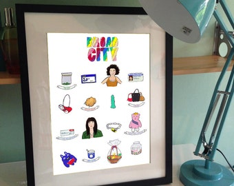 Broad City -inspired illustration PRINT A3 poster