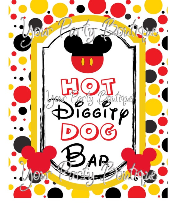 Minnie Mouse Hot Diggity Dog