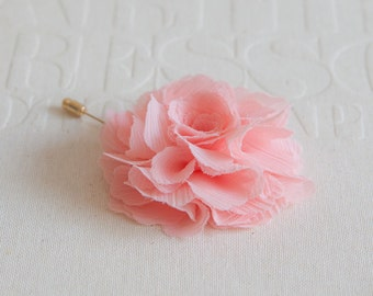 Handmade Chiffon flower Lapel pin -Choose your Color