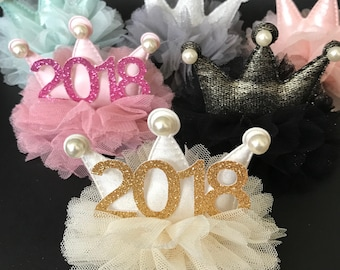 New Years Eve party Crown,2018 Crown,Baby New Years Eve Elastic Headband,New Years Newborn Baby,Baby Crown Headband,new years  photo prop