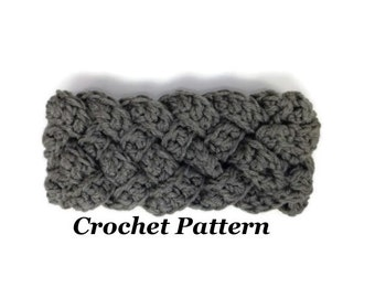 CROCHET PATTERN: Wide Weave Crochet Headband, Crochet Winter Headband Pattern, Earwarmer Pattern, Crochet Head wrap Pattern, Teen Earwarmer