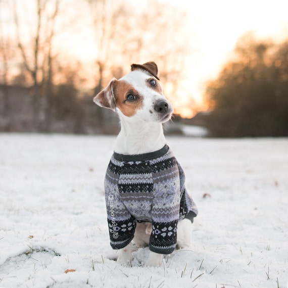 Fair Isle dog sweater Dog Clothes Warm Dog Sweater Custom