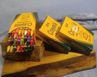 Wow! Vintage Crayola Crayons No.24 NOS 1970s-80s 3 Boxes