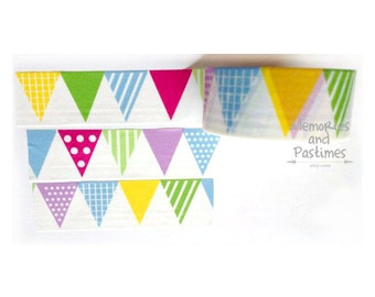 Pennants Washi Tape - Flag Washi Tape - Masking Tape - Decorative Tape - Scrapbooking Embellishment - Gift Wrapping - Love My Tapes - 501991