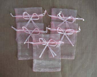 5 pink organza Pocket