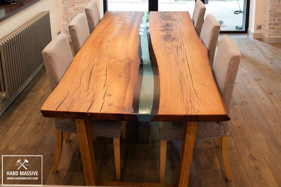 Items Similar To Wood Dining Table Wood Epoxy Table