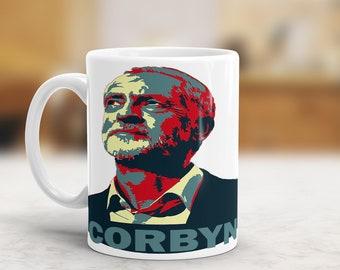 Jeremy Corbyn Mug, Political Mug, Labour Leader Mug,Obama Hope Style, Jeremy Corbyn Gift, Political Gift, For The Many Not The Few,Jezza Mug