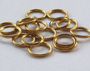 19mm and 25mm Hollow Brass rings ideal for making Dorset Buttons