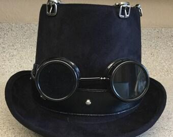 Items similar to Steampunk Goggles - Black Alchemy on Etsy