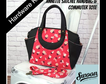 SWOON Annette Satchel Handbag & Commuter Tote - Hardware Kit