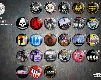 Collection sheets Ramones / / Ramones button collection