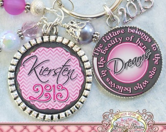 Personalized Graduation Gifts, Class of 2016, College Graduation Gift for Her, Keychain, High School Graduation Gift, Inspirational Jewelry