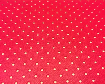 Pink Perforated Artificial Leather Fabric. Pink Skai Cross stitch fabric. Hand embroidery fabric