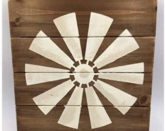 Windmill Wood Sign, Windmill Decor, Farmhouse Wooden Signs, Pallet Sign, Windmill Wall Decor