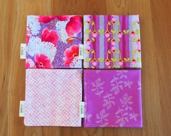 Lavender and Pink Cocktail Napkins, Purple Lunchbox Napkins, Small Napkins, Mix and Match, Memory Lane, Hostess Gift, Housewarming Gift