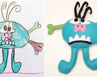 Custom Made Stuffed Animal copied from a child's drawing