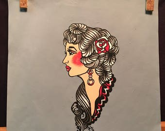 Pin up Painting