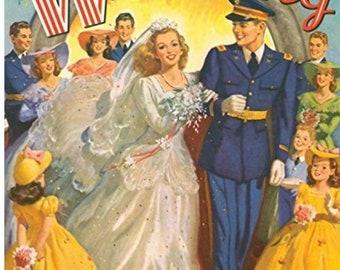 Wartime Paper Doll Wedding