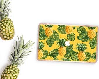 Macbook Pro 13 Case Macbook Air Case Laptop Case Macbook Decal Hawaii PineApple and Rose Gold Chrome Edge