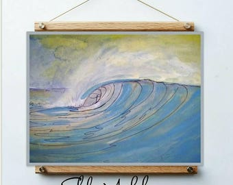 cartoon surfer , cartoon surfing , surfing for children ,  wall art surf ,  gift for surfer men ,  gifts for surfer , surfing print ,