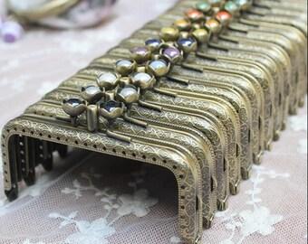 12cm purse frame purse clasp clutch frame metal purse frame purse making supplies wholesale.1pcs(hw)